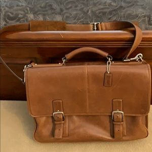 Coach leather laptop briefcase